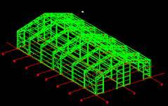 Kocaeli'de yapýmý tamamlanan 10mx20mx3m branda kaplý çelik konstrüksiyon depo yapýsý statik hesap ve raporlarý tamamlandý.